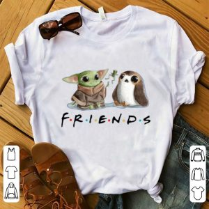 Awesome Baby Yoda Frog and Penguin Friends shirt