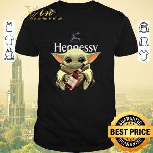 Awesome Baby Yoda Hug Hennessy Star Wars Mandalorian shirt sweater