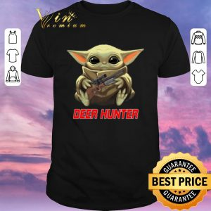 Awesome Baby Yoda hug Deer Hunter Star Wars Mandalorian shirt sweater