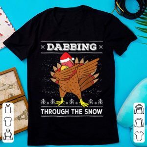 Awesome Dabbing Through The Snow Dab Turkey Ugly Christmas Sweater sweater