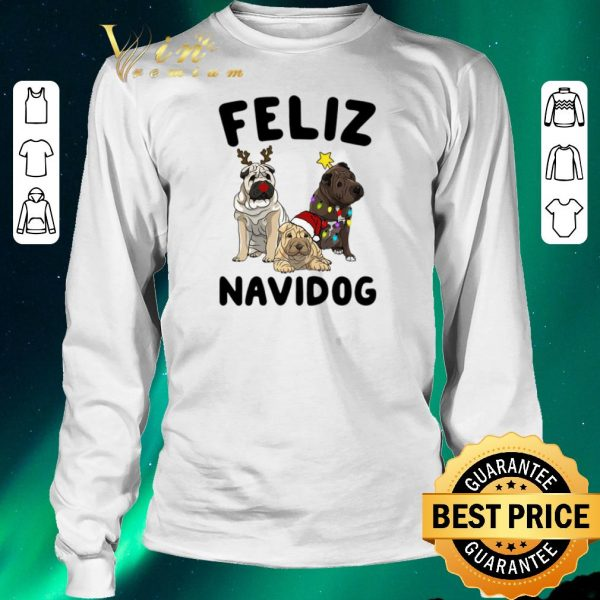 Awesome Feliz Navidog Shar Pei Christmas shirt sweater