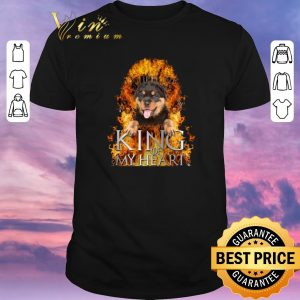 Awesome Game Of Thrones Rottweiler King of my heart shirt
