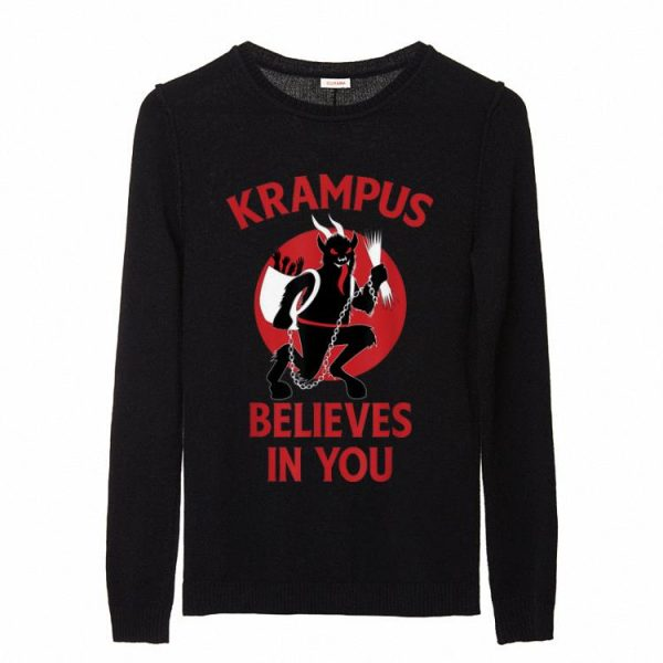 Awesome Krampus Believes In You Germanic Christmas Demon sweater