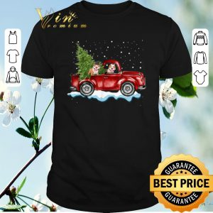 Awesome Pitbull Dog Pickup Truck Christmas shirt sweater