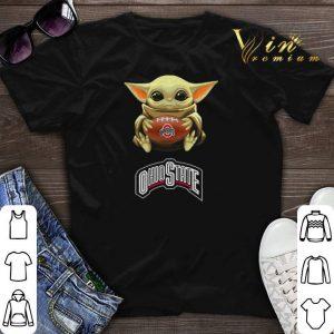 Baby Yoda hug Ohio State Buckeyes Star Wars Mandalorian shirt sweater