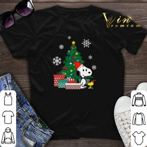 Christmas tree Snoopy and Woodstock shirt