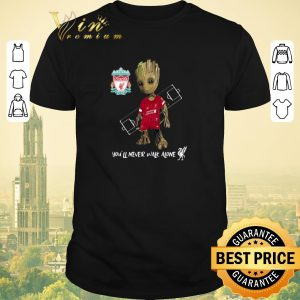 Funny You'll Never Walk Alone Baby Groot Little Liverpool shirt
