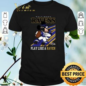 Funny mickey mouse baltimore ravens play like a raven shirt sweater