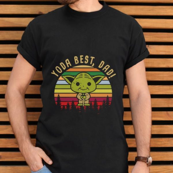 Great Baby Yoda best dad vintage sunset shirt