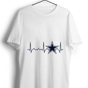 Great Dallas Cowboys heartbeat shirt