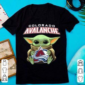 Great Star Wars Baby Yoda Hug NHL Colorado Avalanche shirt