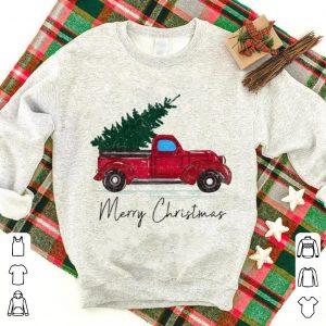 Great Vintage Red Truck With Merry Christmas Tree sweater