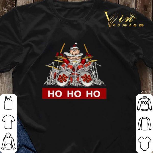 HO HO HO Santa Claus playing drummer shirt