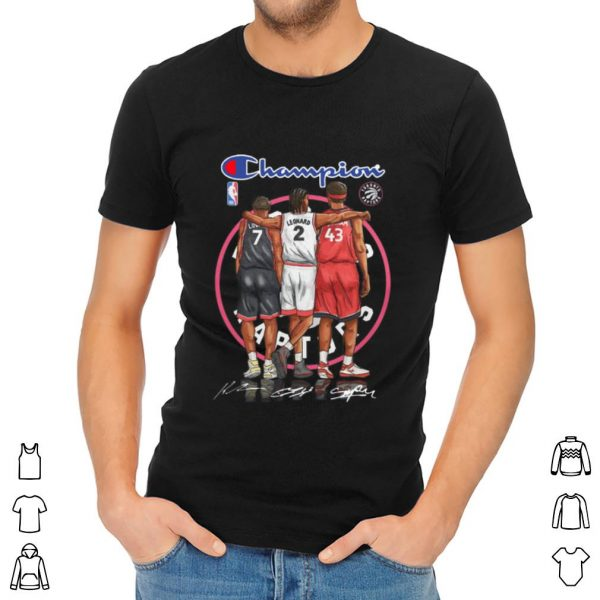 Hot Champions Kyle Lowry Leonard Pascal Siakam Toronto Raptors shirt