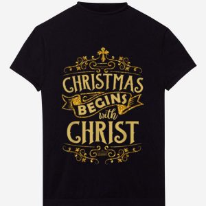 Hot Christmas Begins With Christ Christian Holiday Jesus sweater