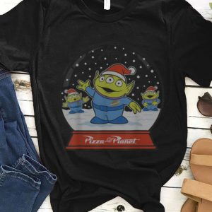 Hot Disney Pixar Toy Story Alien Claw Snowglobe Christmas sweater