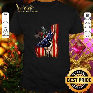 Hot Fox Racing Mountain Bike Your Name American Flag shirt