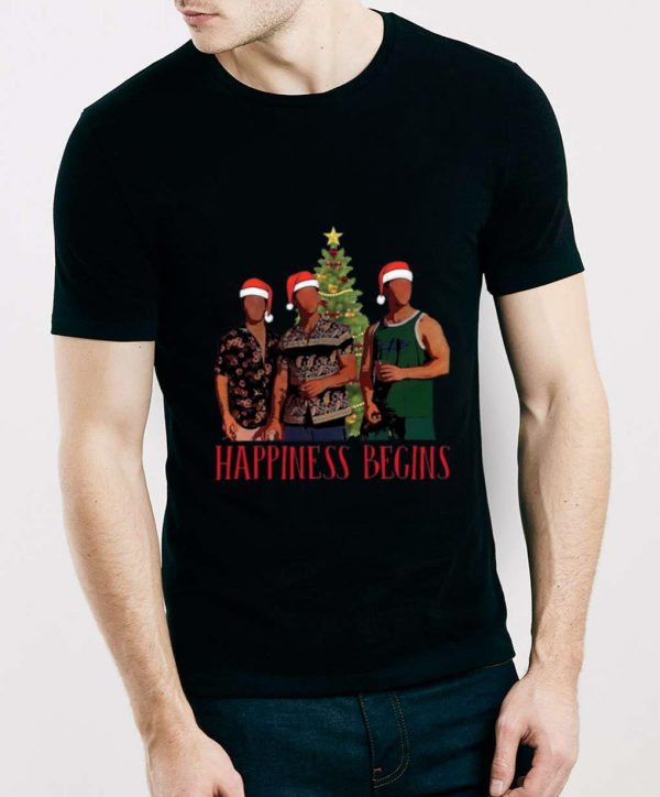 Hot Happiness Begins Christmas Tree Brothers shirt