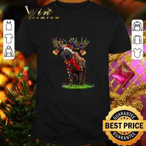 Hot Moose santa gorgeous reindeer Christmas light shirt