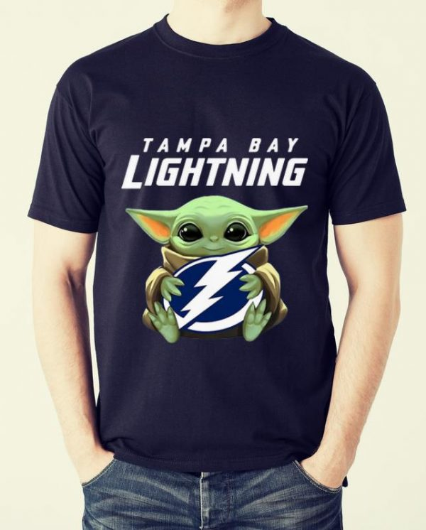 Hot Star Wars Baby Yoda Hug NHL Tampa Bay Lightning shirt