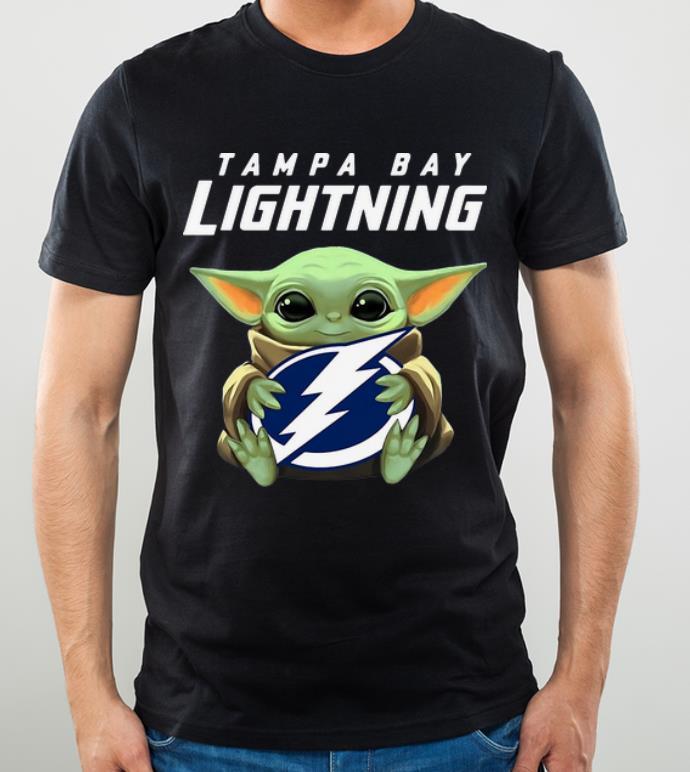 Hot Star Wars Baby Yoda Hug NHL Tampa Bay Lightning shirt 4 - Hot Star Wars Baby Yoda Hug NHL Tampa Bay Lightning shirt