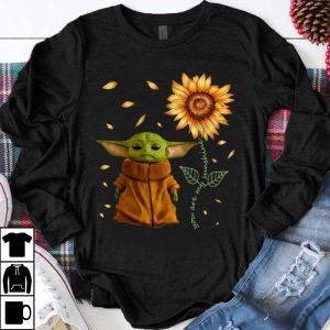 Hot Sunflower Baby Yoda You Are My Sunshine shirt