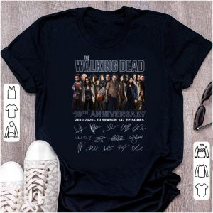 Hot The Walking Dead 10th Anniversary Signatures shirt