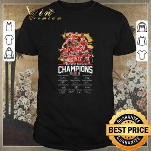 Hot signatures kansas city chiefs afc west division champions 2019 shirt
