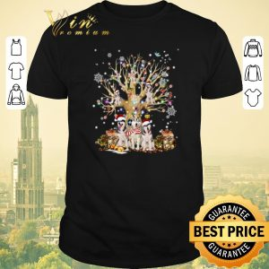 Nice Christmas Tree Dogs Klee Kai Alaskan shirt