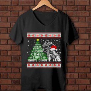 Nice Dasher dancer prancer vixen comet cupid Daryl Dixon Christmas shirt
