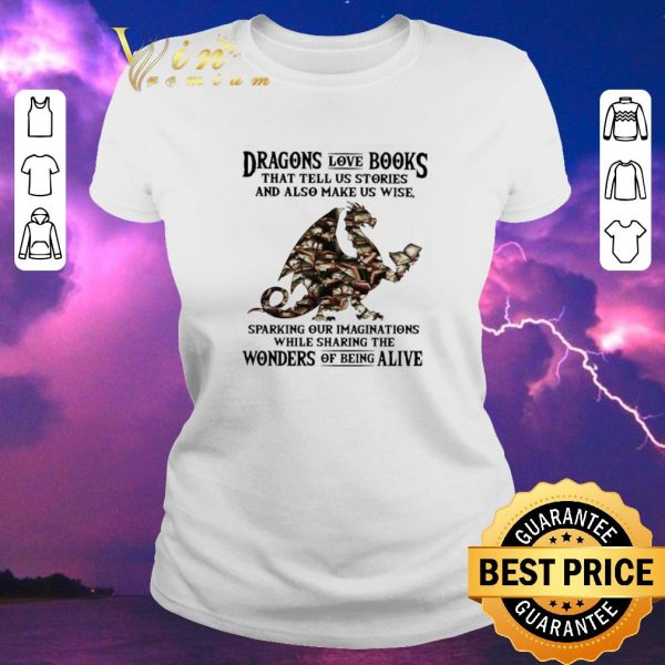 Nice Dragons love books that tell us stories and also make us wise shirt sweater