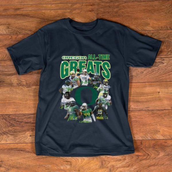 Nice Oregon All-time greats signatures shirt