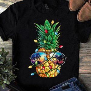 Nice Pineapple Christmas Tree Lights Xmas Men Gifts Sunglasses sweater