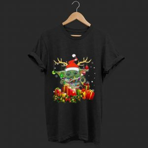 Nice Santa Baby Yoda Reindeer Christmas Light Christmas Gift shirt