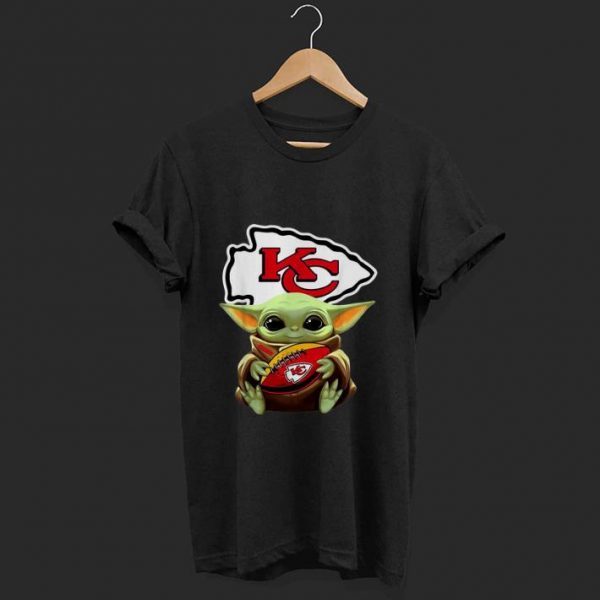 Nice Star Wars Football Baby Yoda Hug Kansas City Chiefs shirt