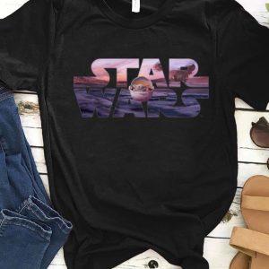 Nice Star Wars The Mandalorian Razor Crest Floating Pod Baby Yoda shirt