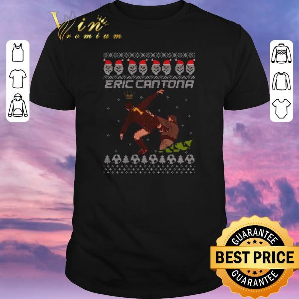 Nice Ugly Christmas Eric Cantona Kung Fu sweater