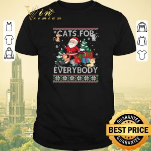 Nice Ugly Christmas Santa Cats For Everybody sweater
