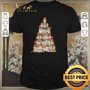 Official Christmas lights Sheltie paws tree shirt