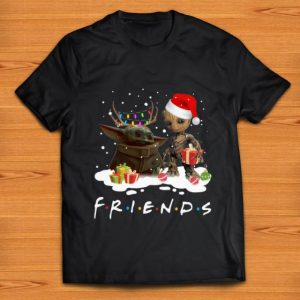 Official Santa Baby Yoda And Baby Groot Friends Merry Christmas shirt