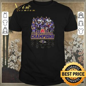 Official Signature Baltimore Ravens 2019 AFC North Division Champions all shirt