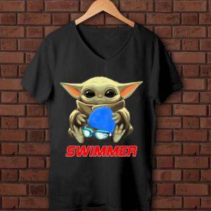 Official Star Wars Baby Yoda Hug Swimmer shirt