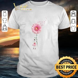 Original Breast Cancer Flower Girl never give up shirt