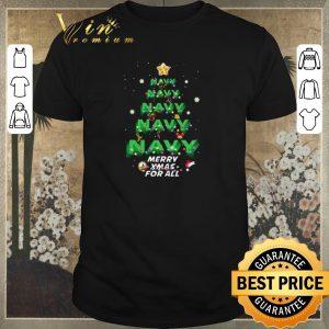 Original Christmas Navy Merry XMas For All shirt