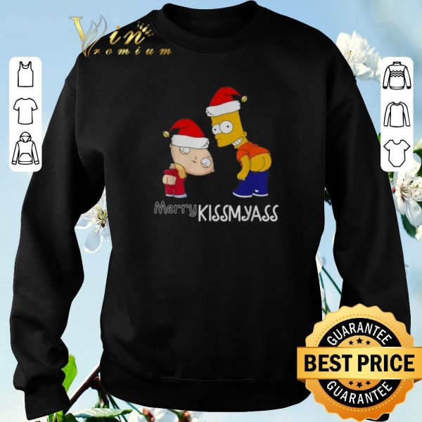 Original Christmas The Simpsons Merry Kissmyass shirt