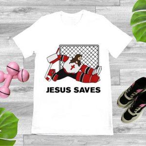 Original Hockey Christian Jesus Saves shirt