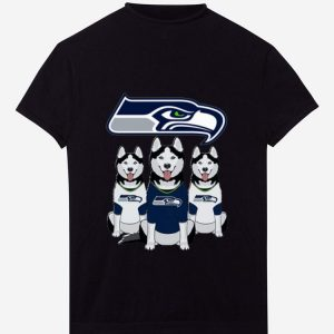 Original Husky Seattle Seahawks And Dog Lovers shirt