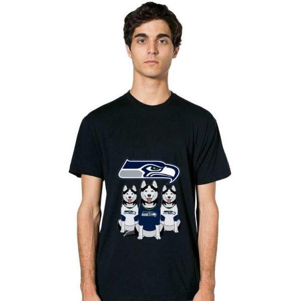 Original Husky Seattle Seahawks And Dog Lovers shirt