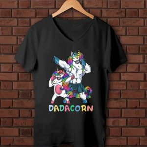 Original Rainbow Unicorn Dabbing Father Dadacorn shirt