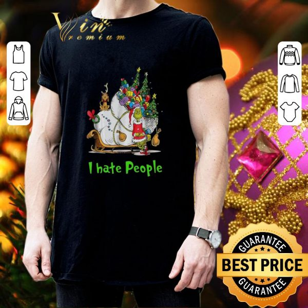 Original Santa Grinch I Hate People Christmas shirt